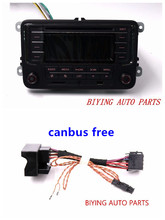 Car Radio Head Unit RCN210 + Canbus CD USB MP3 SD Card AUX BTPlayer for Golf 5 6 Jetta Mk5 6 Passat B6 B7 CC Tiguan(China)