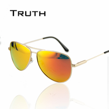 TRUTH men aviator sunglasses flex hinge Polarizing sunglasses mirror driving fishing Silica gel men luxury lunettes de soleil