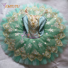green classical ballet tutu professional ballet tutus,ballerina platter pancake tutus, Esmeraldas green tutu dress for adults(China)