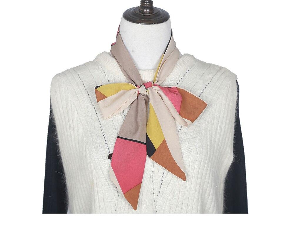 DARCHROW New Spring Summer Style Women Scarves Scarf Elegant Office Female Neckerchief Silk Satin Scarves With Dress Hijab