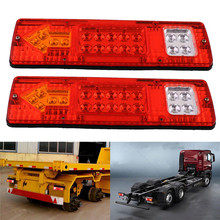 One Pair 19LED Durable Turn Signal Tail Universal LED Square Truck Tail Light Lamp High Quality