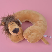 NICI Forest Lion Plush U Shaped neck travel pillow, Plush Head Cushion Rest Pillow Free Shipping