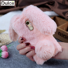DULCII Cute Rabit Case for Xiaomi Redmi Note 4 Note4 Bunny Silicone Furry Soft TPU Cellphone Cover for Xiomi Fur Shell(China)