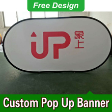 Free Design Free Shipping Vertical Top Banner Frame Pop Up Signs Outdoor Pop Up Banners(China)