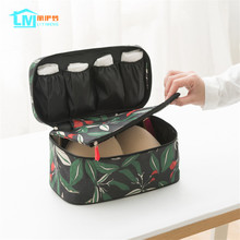 LIYIMENG Waterproof Clothes Organizer Folding Storage Box Underwear Bra Packing Makeup Cosmetic Cloth Container Travel Bags(China)