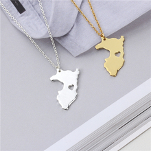New Fashion Outline Peru Map Pendant Necklace Jewelry.A Heart in Peru. Fashion Holiday Charm Necklace(China)