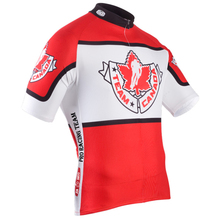 NEW Hot Customized JIASHUO 2016 Red Canada pro / road RACING Team Bicycle Bike Pro Cycling Jersey / Wear / Clothing / Breathable