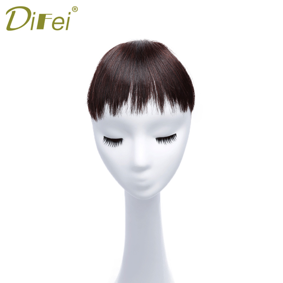 DIFEI Cheap Synthetic Hair Bangs Women Clip Bang Hair Extensions Lady Short Straight Bang Hair Pieces