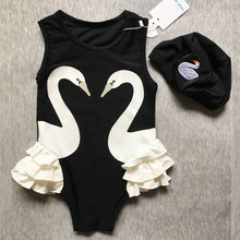 Buy Fashion Toddler Kids Baby Girl Swan Bikini Swimwear One-Piece Swimsuit Swimming Costumes Swimsuit Bathing Suit for $7.40 in AliExpress store