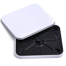 White Metal Bland DIY Storage Case Tin Box Muji Single CD/VCD/DVD Disk Disco Mp3/Mp4 CD Case(China)