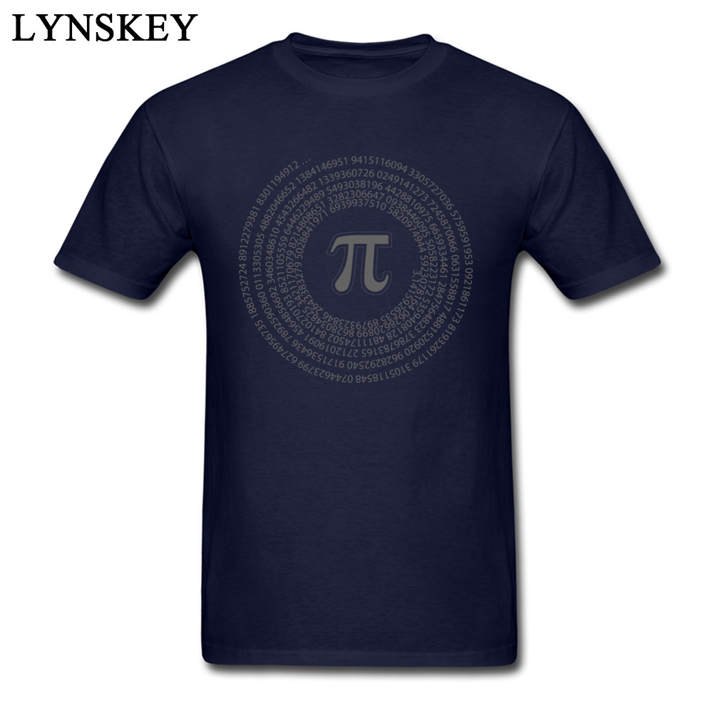 Group Tops T Shirt Funny Round Collar Short Sleeve Pi day vortex mathematical constant 100% Cotton Men T-shirts Casual Summer Tee-Shirt Pi day vortex mathematical constant navy
