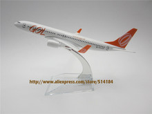 16cm Alloy Metal Model Airplane Air Brazil GOL Airlines Boeing 737 B737 800 Airway Plane Model W Stand Airplane
