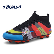 TOURSH High Ankle Soccer Shoes Fly Man Football Shoes Kids Boys New Superfly Soccer Cleats Boots Football Trainers Size 33-43