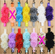 Shabby chic headband girls headbands 16colors u choose shabby chiffon flower headband