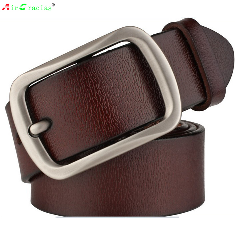 AIRGRACIAS Brand Genuine Leather Men Belt Fashion ...