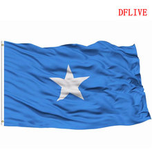 DFLIVE Somalia Dominican Country Flag 3x5 FT Printed Polyester Fly 90x150 CM Somali SO National Banner(China)