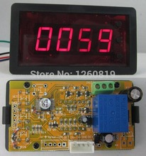 DC 12V 4 Digits Red LED Digital Counter Meter Up Down Totalizer with Relay Output Panel Counter Meter