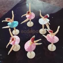12pcs Little Ballerina Mini Ballet Girl Baby Shower Favors Gift Christening Party Table Decoration Crafts(China)