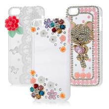 Nextmall Clear Diamond Case For Apple iPod Touch 6 Fashion Bling Rhinestone Love-Heart Protective Hard Plastic Back Cover T20