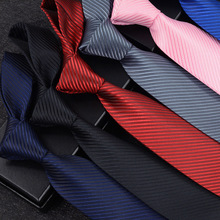 8 Cm Male Formal Wear Black Tie Business British Style Professional Working Marry Dark Striped Tie