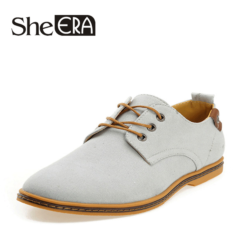 She Era New 2017 Fashion Men Oxford Shoes Spring Summer Casual Men Shoes Lace-up Breathable Canvas Shoes for Men Size 38-48<br><br>Aliexpress