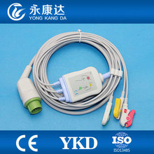 Kontronone-piece ECG cable with leads clip ecg cable 12 pin,IEC(China)
