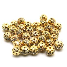 Hot Sale Created White Diamonds Beads Round Selectable Color White K/Black/Golden For Jewelry Making DIY Bracelet Necklace