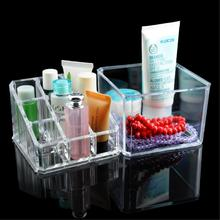 WITUSE Clear Acrylic Makeup Drawer Cosmetic Organizer Display Stand Storage Case Jewelry Storage Makeup Tools Brush Holder(China)