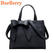 2017 Baellerry Good Quality Elegant Style Women's Handbag Graceful Big Bow Lady's Messenger Tote Bag Fashion Solid Crossbody Bag