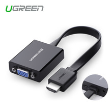 Ugreen 1080P HDMI to VGA adapter digital to analog audio converter cable for Xbox 360 PS3 PS4 PC Laptop TV box to Projector(China)