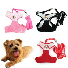 Pet Dog Collars Puppy Cat Leash Vest Mesh Breathe Adjustable Harnes Chest Braces Clothes