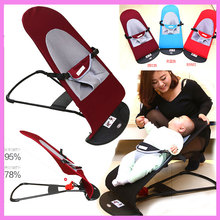 Portable Adjustable Folding Baby Cradle Swing Safety Chair Recliner Newborn Rocking Chair Swinging Lounge Chair Bouncer 0~3 Y