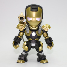 Q version of the iron man toy model - black gold war machine set Take GangBao over her shoulders wmq121