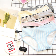Buy SP&CITY Classic Striped Cotton Underwear Women Seamless Briefs Soft Female Sexy Panties String Thong Ladies Fashion Sex Panties