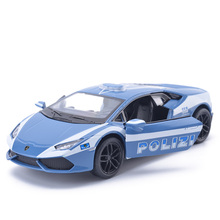 The pol ice car Dodge Chargers R/T Fast & Furious alloy toy car model metal door inertia for children gifts(China)