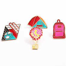 Fashion jewelry charm women micro chapter backpack tents girl clothing accessories a corsage Popular hot brooch