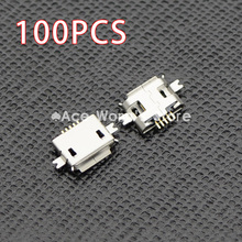 100pcs 5pin Female Micro USB Connector, SMD 2 Fixed feet, Widely used in tablet, phones and PDA
