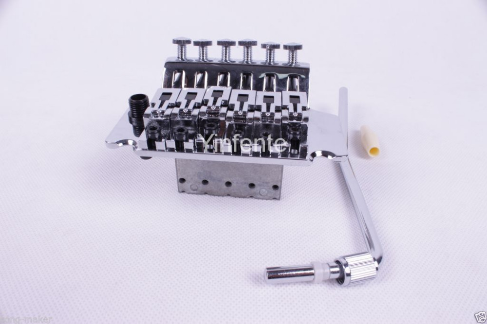 6 STRING Electric Guitar Tremolo Bridge Double Lock System Chrome 925<br>