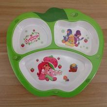 Baby Dinnerware Apple Design Multi Separate Baby Feeding Dinner Plates Bowl Children Dishes Kids Bowl