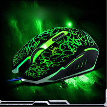 Malloom 2017 New 6 keys Professional Colorful LED Backlight 4000 DPI Optical Wired Gaming Mouse Gamer Mice sem fio For PC Laptop(China)