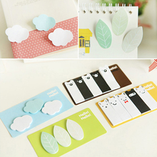 Kawaii Cute Clouds Leaf Animal Forest Mini Memo Pad Stationery Sticker Post It Notes Paper Bookmark Flags Sticky(China)