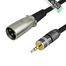 OKUT Mini Jack 3.5mm To 3pin XLR Male To Male Audio Cable Microphone Cable For PC SLR Cameras Record Audio Cable 1m 2m 3m 5m 10m