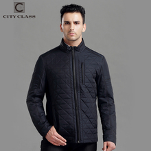 CITY CLASS New Mens Autumn Jackets And Coats Fashion Top Casual Short Stand collar Cotton-Padded Quilted Jacket Free Ship 14008(China)