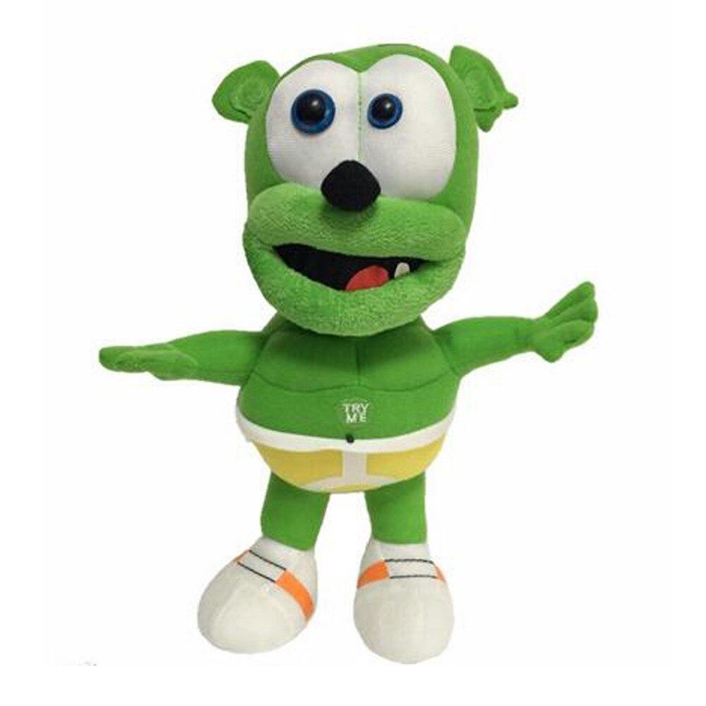 Singing I AM A GUMMY BEAR MUSICAL Cute Gummibar Plush Soft Toy NEW Gummy Bear Plush 26cm<br><br>Aliexpress
