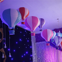 Hanging Wedding Rainbow Hot Air Balloon Paper Lantern Air Hot Balloons Wedding Party Chinese Paper Lantern Decoration Lamp Light