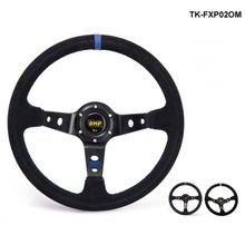 Modified steering wheel Suede leather steering wheel automobile race steering wheel steering wheel TK-FXP02OM(China)