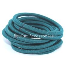 50PCS 4mm Blackish Green Elastic Ponytail Holders Hair Bandswith gluing connection,Elastic Hair Ties,circle length 16.0cm(China)