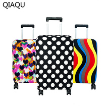 QIAQU High Quality Fashion Travel on Road Luggage Cover Protective Suitcase cover Trolley case Travel Luggage Dust cover(China)