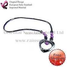 Valentine Gift Free Shipping Rainso Promotion Wholesale Magnetic Hematite Necklace Hematite Pendant Jewelry OHN-132T      18""