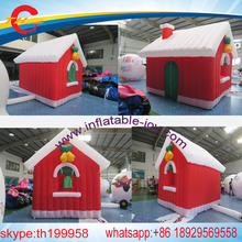 christmas decoration inflatable  santa claus house  tent,colorful  inflatable santa grotto